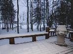 Let it snow, let it snow, 10x30 deck with gas grill