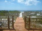Looking from the deck to the Gulf of Mexico