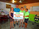 Thank you banners to some of our guests for their generous donations to the Hogarcito