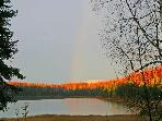 Local stocked lake.  5 minute walk