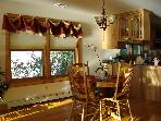 Dining area, also overlooking lake