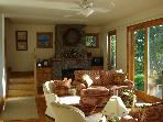 Propane F/P in Living Room overlooking Lake. South view