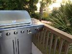 Propane BBQ grill.