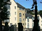 Apartments viewed from the Old Canongate Kirkyard