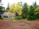 cottage from blueberry field: fall