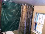 Upstairs bathroom, shower / tub