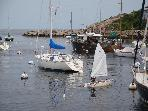 Sailing in Rockport Harbor
