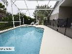 Pool and Spa with child safety fence up