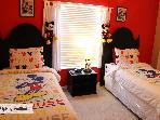 Kids Mickey Mouse Bedroom (2 twin beds and extra twin in walk in closet