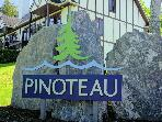 The sign to Pinoteau right off the main road.