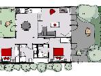Teahouse floor plan