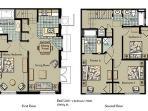 The Villas at Seven Dwarfs - 4 Bedrooms Floor Plan