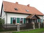 The House under the Angel in the tiny village of Drweck, near Olsztynek, Poland