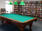 Billiards/Pool room & Book Loan Library in the Club House
