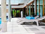 Your entrance and sun deck