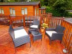Decking area and BBQ