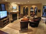 family room w/Blu-ray, lulti-region DVD, Sonos, Wii, Netflix, cable