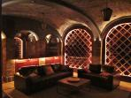 wine vaults living, dim lighting