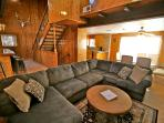Large sectional sofa in the family room