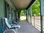 A big deck off every bedroom in the beautiful green mountains. Pool and tennis too!