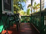 The lanai overlooking the tropical garden
