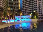 Azure Urban Resort Residences at night