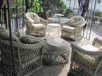 Gazebo seating on Deck over Boat Dock
