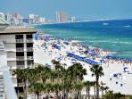 Balcony view to the East - miles of Emerald Coast! Bring your binoculars!!