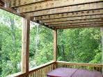 View from lower level deck-Summer view (private around hot tub)