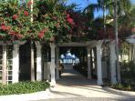 Beautifaul walkway to pool area