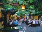 Lot of vine restaurants called Heurigen nearby