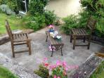 Your own private patio, very sunny until the end of the day. south west aspect.