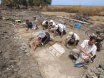 archéologues de travailler chaque été à une courte distance de la maison