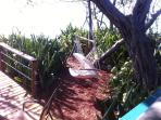 New lounging area with hammock chair