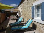 terrasse avec bain de soleil