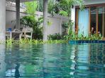 Enjoy a Sundowner drink in the Sala overlooking the pool