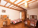 The Orange bedroom - 4 singles, or 1 double/ 2 singles option.