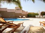Lounge by your 8m x 4m Private Pool