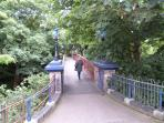 Footbridge to Belle Vue Park