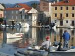 Stari Grad harbour is highly attractive, with long traffic-free quaysides on either side.
