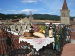 A taste of Tuscany in the roof terrace