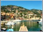 The beautiful French fishing town of Villefranche-sur-Mer.