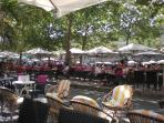 Place Carnot, with cafes, restaurants and shops only a couple of minutes away