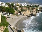 One of many beaches in Nerja