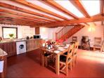 Haybarn's large kitchen.