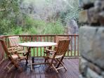 Private decking with furniture