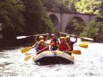 White water rafting on the River Aude