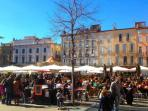 daily food market in Perpignan