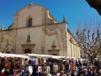 The church in Fayence