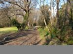The Vaugrenier Parc, great for a walk or training. Fitnesspath.